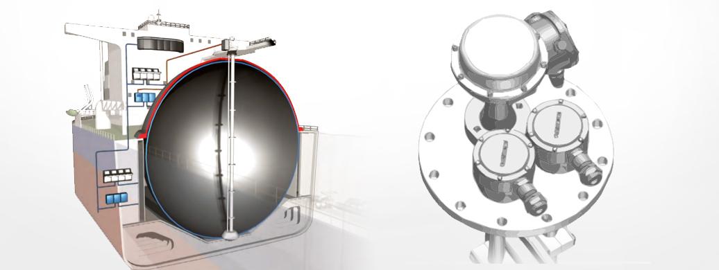 CTS用レーダー式液面計測システム